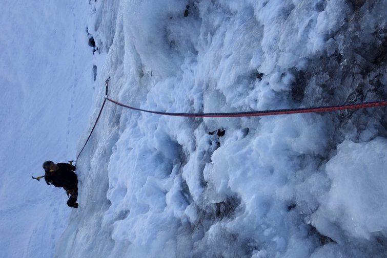 Cascade de glace à Val d'Isère