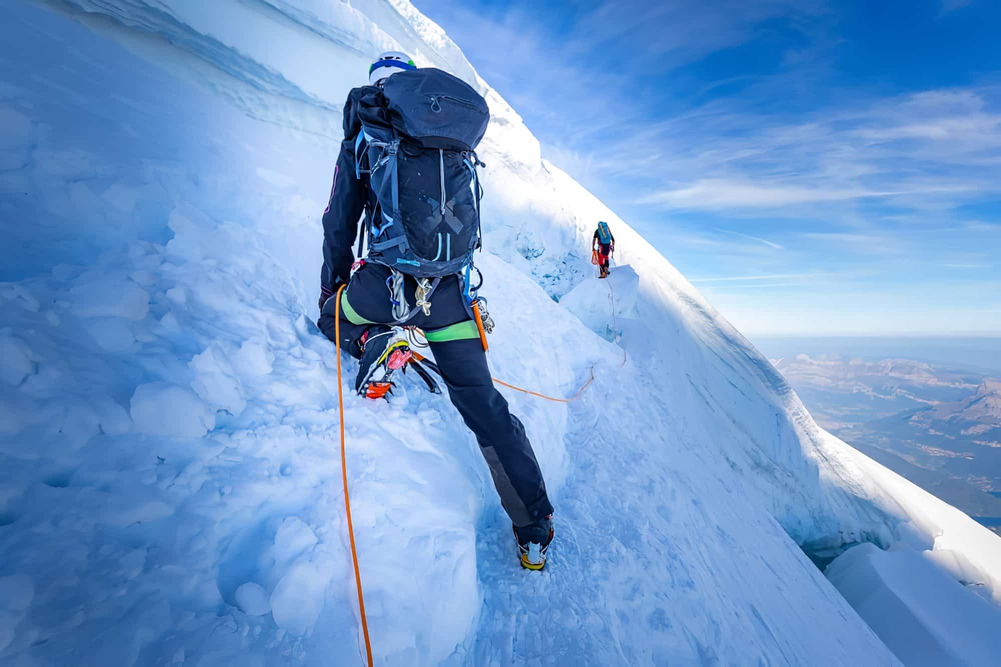 Escalade dans le Massif du Mont-Blanc