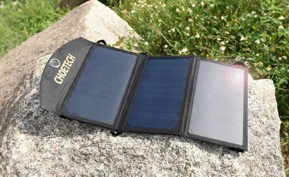 Un chargeur solaire portable