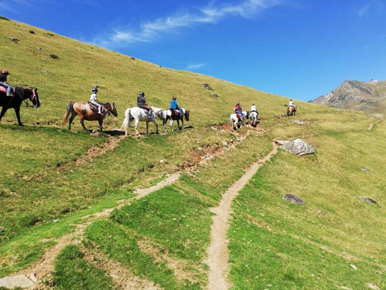 Randonnée à cheval, La Mongie