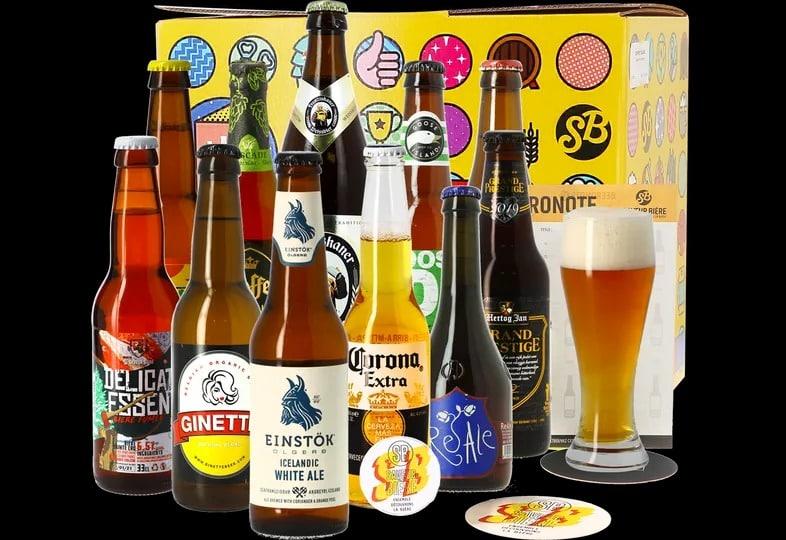 Un coffret avec des bières du monde entier