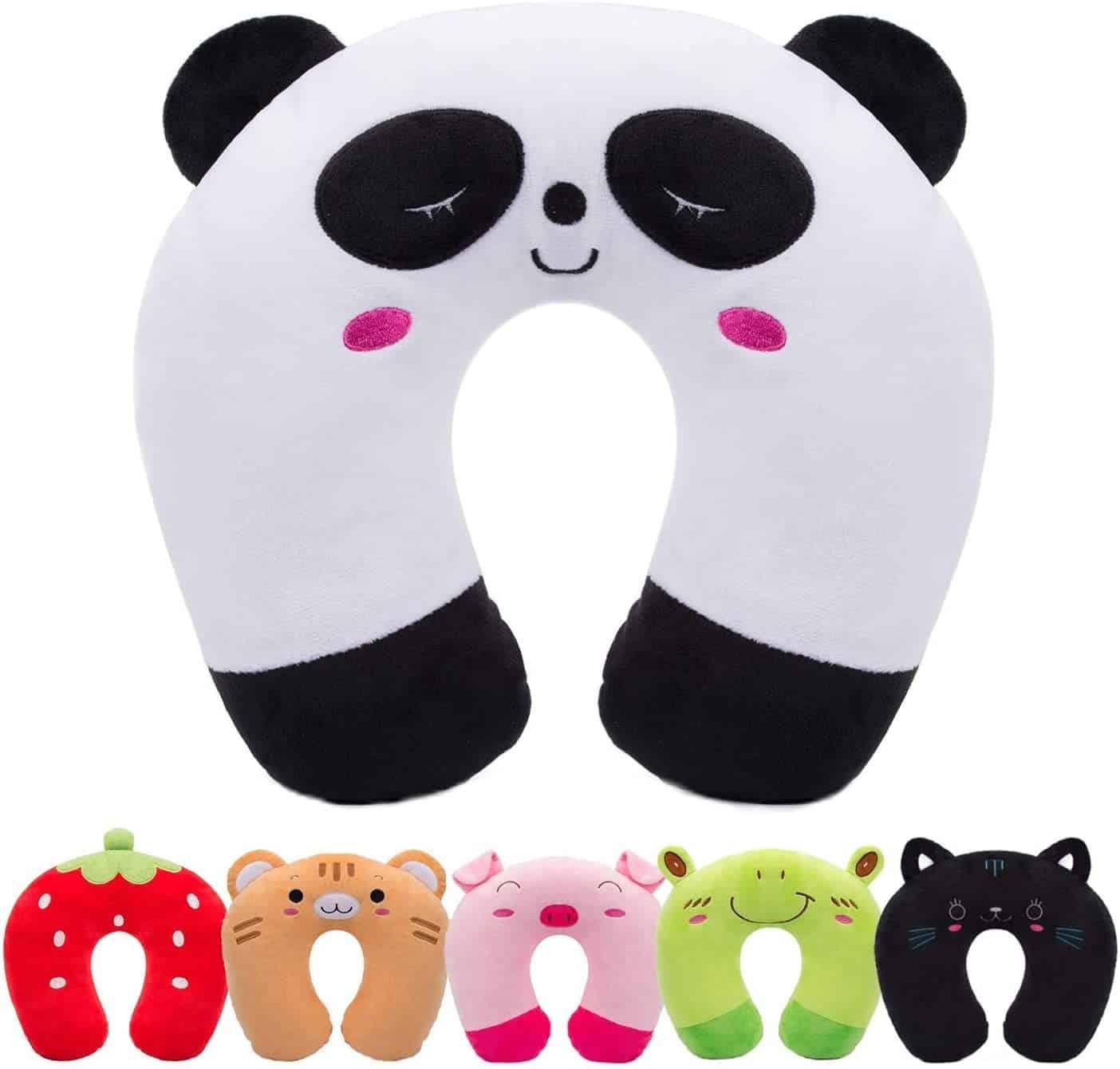 Un coussin de voyage panda