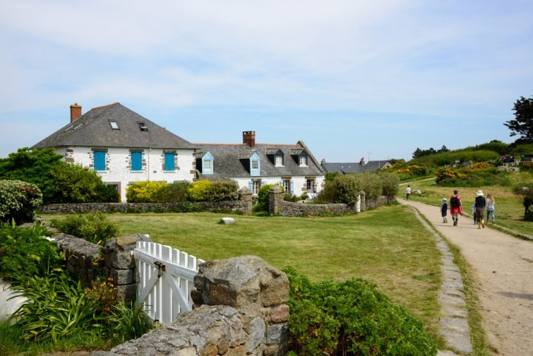 Maisons typiques, Îles Chausey, Normandie