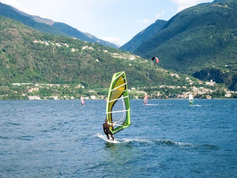 Kitesurf au lac de Côme