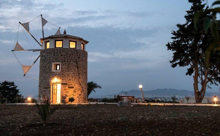 Airbnb à Kos : maison moulin Milos