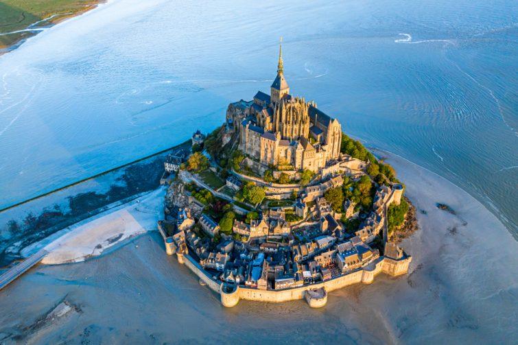 Phénomène de marée haute, Mont Saint-Michel