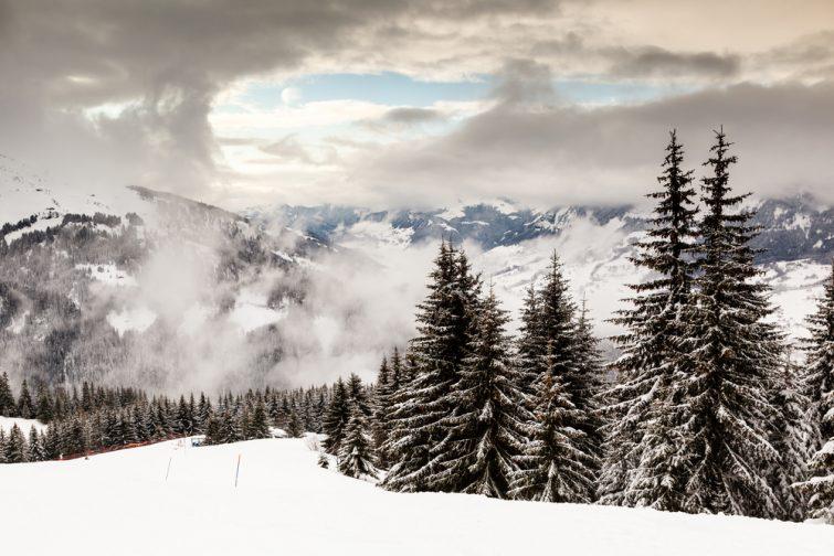Paysage hivernal à Megève