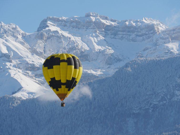 Montgolfiere alpes