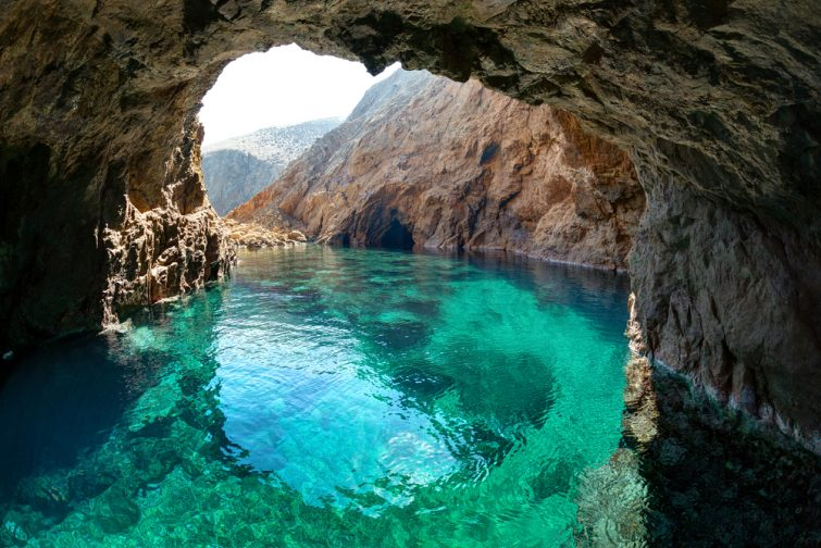 Tragonisi caves, Mykonos