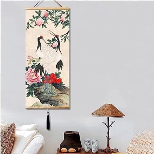 Un parchemin Japonais en guise de décoration murale