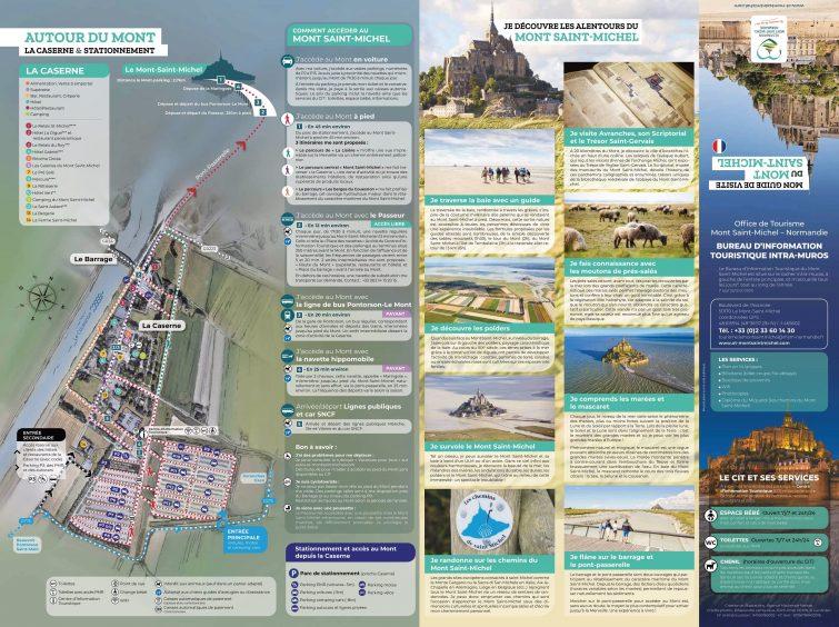 Plan accès, transports et parking du Mont Saint Michel