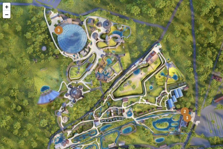 Plan des boutiques du zoo de beauval
