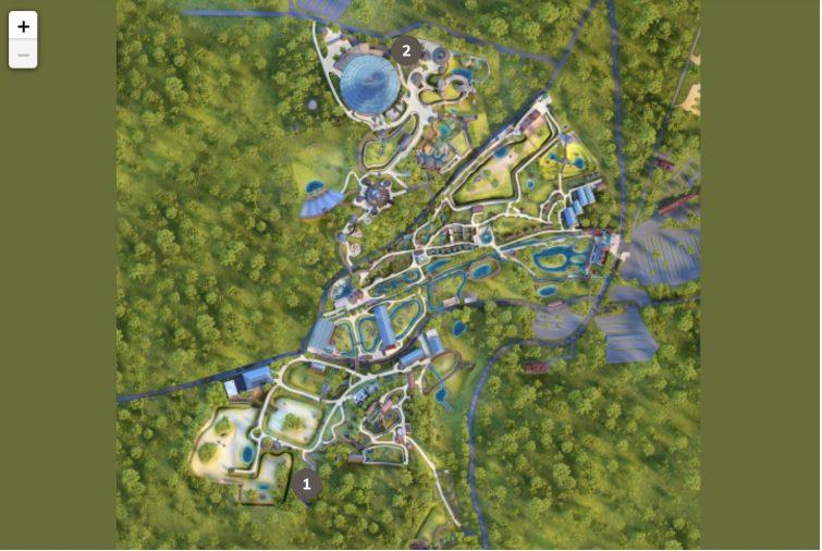 Plan des gares du zoo de beauval