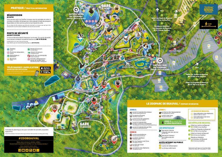 Plan général du zoo de Beauval