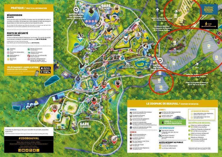 Plan parking zoo de Beauval
