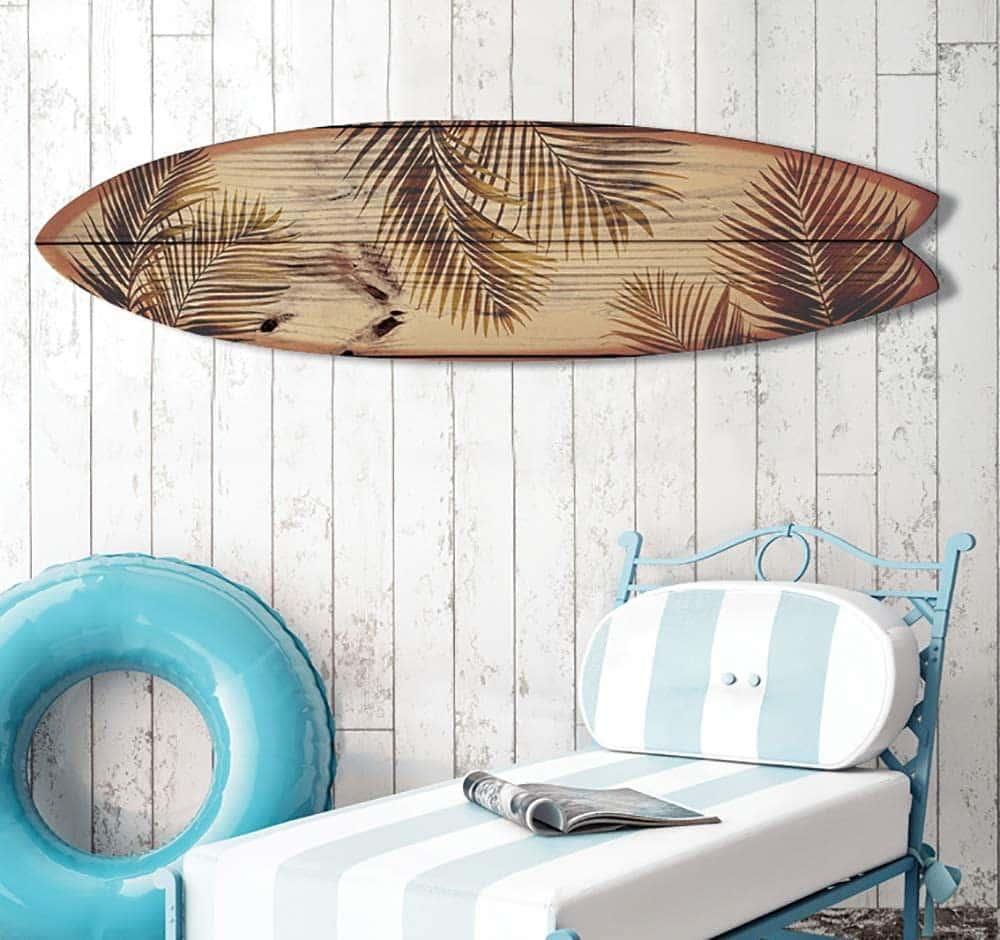 Une planche de surf de déco