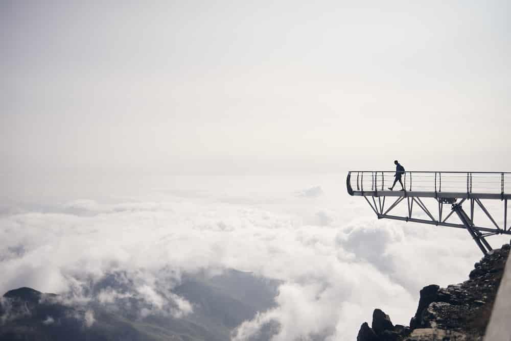 Ponton dans le ciel Pic du Midi