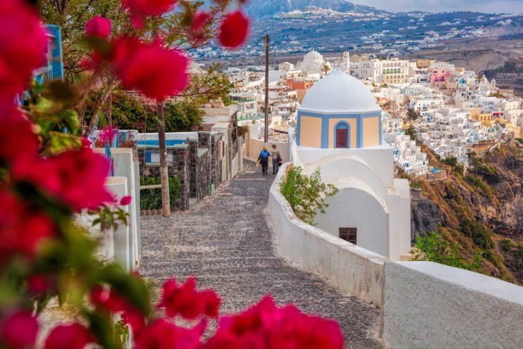 Printemps sur l'île de Santorin, Grèce