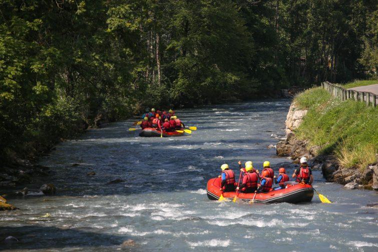Rafting megève