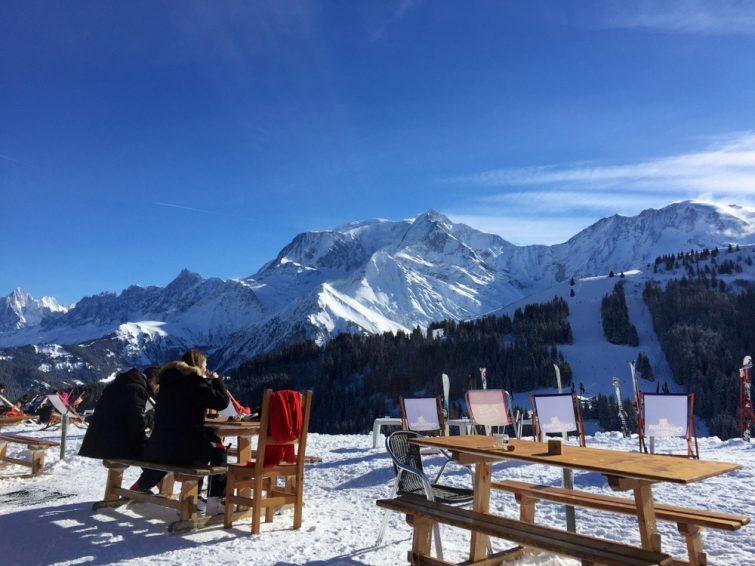 Restaurant en altitude, Saint Gervais, Mont Blanc