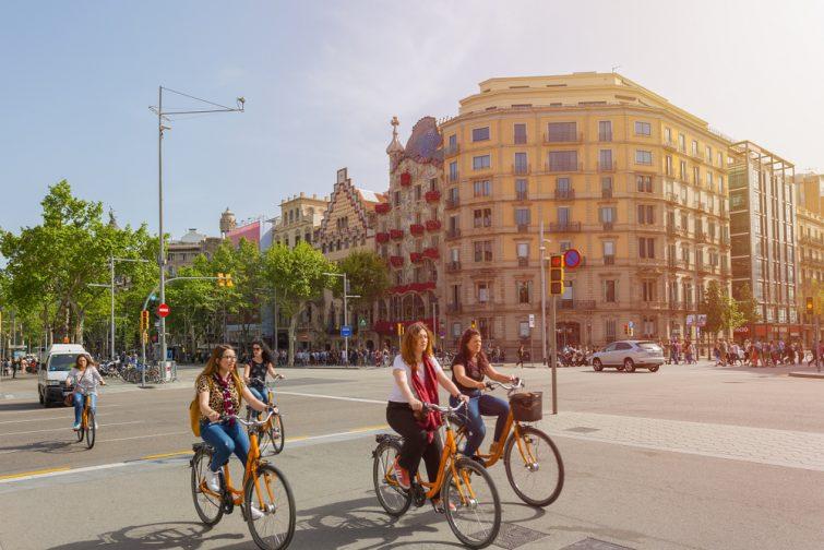 Vélo en ville à Barcelone