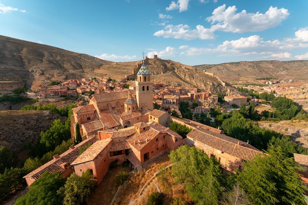 Villages d'Aragon : Vue d'Albarracín dans la province de Teruel