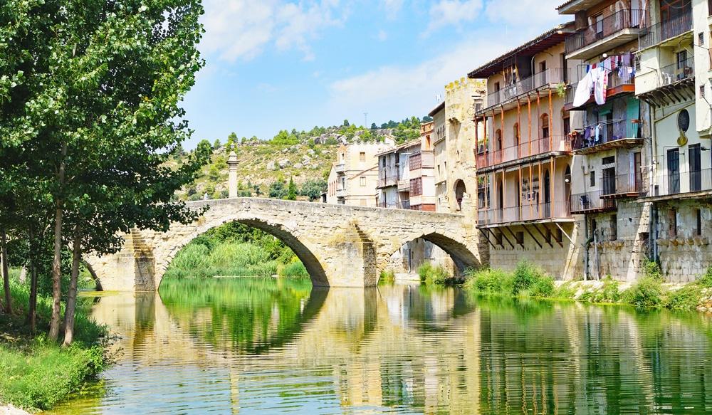 Villages d'Aragon : Valderrobres dans la province de Teruel, Aragon, Espagne