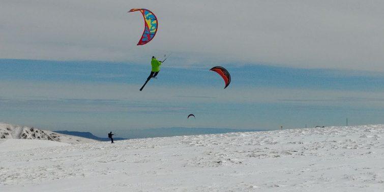 Snowkite activité outdoor Gérardmer