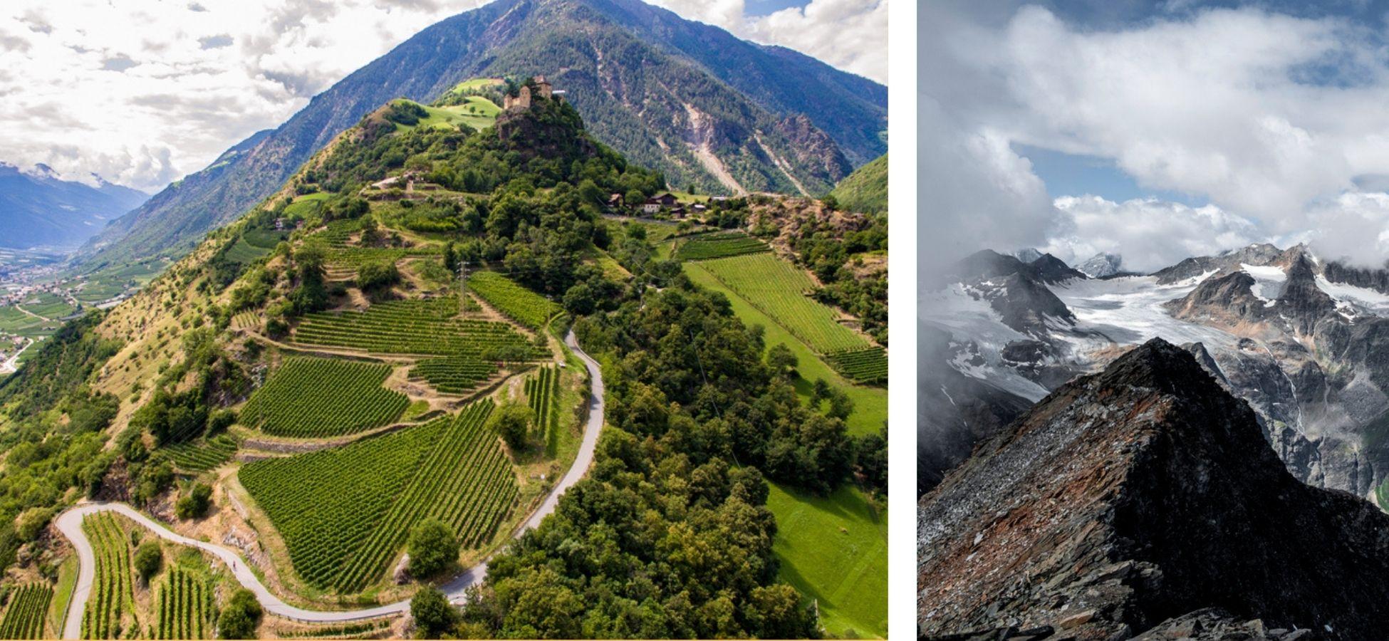 Le Val Venosta, région du Sud-Tyrol