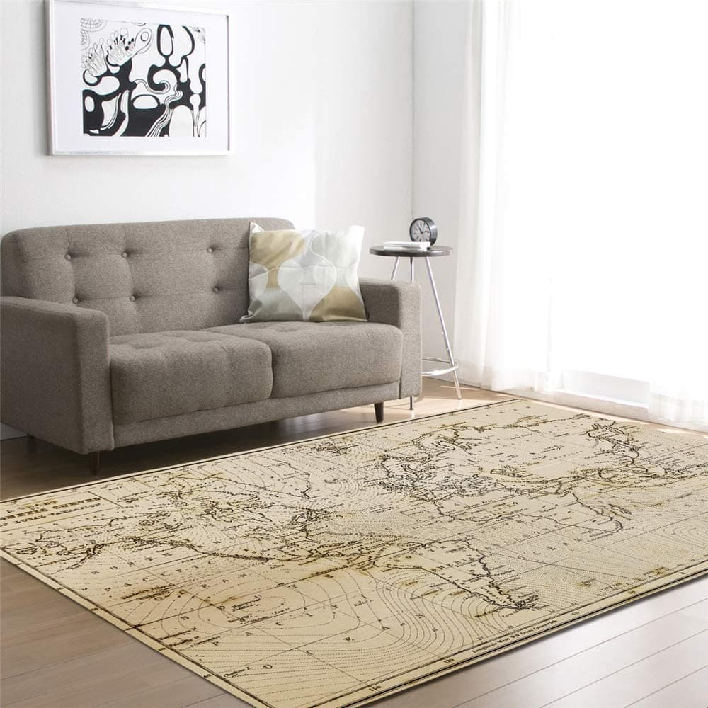 Un tapis décoratif carte du monde