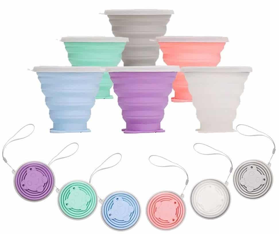 Des tasses rétractables en silicone