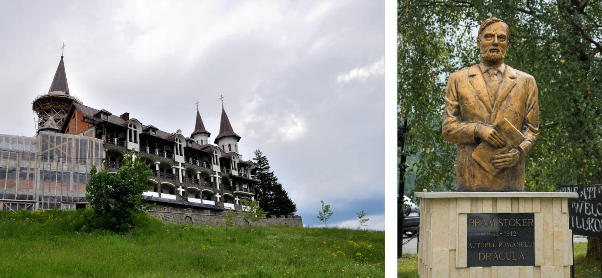 Monastère et Statue de Bram Stoker