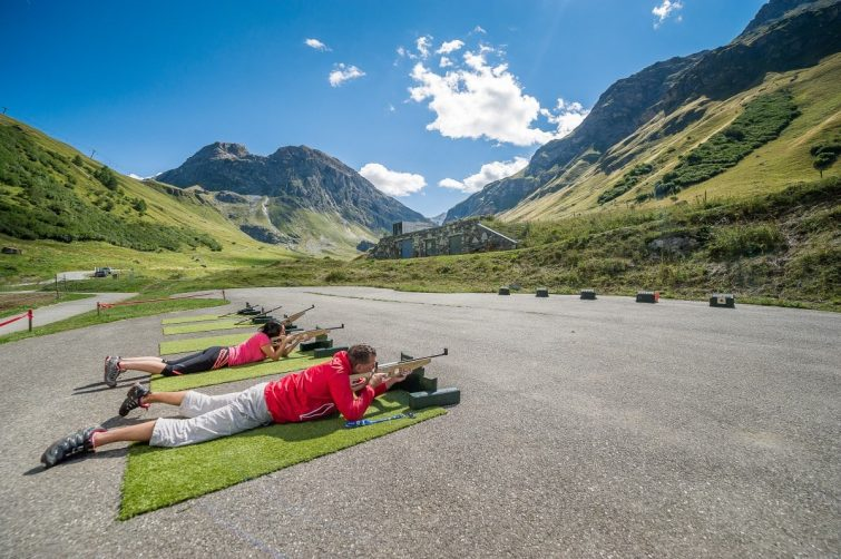 Biathlon Laser à Val d'Isère