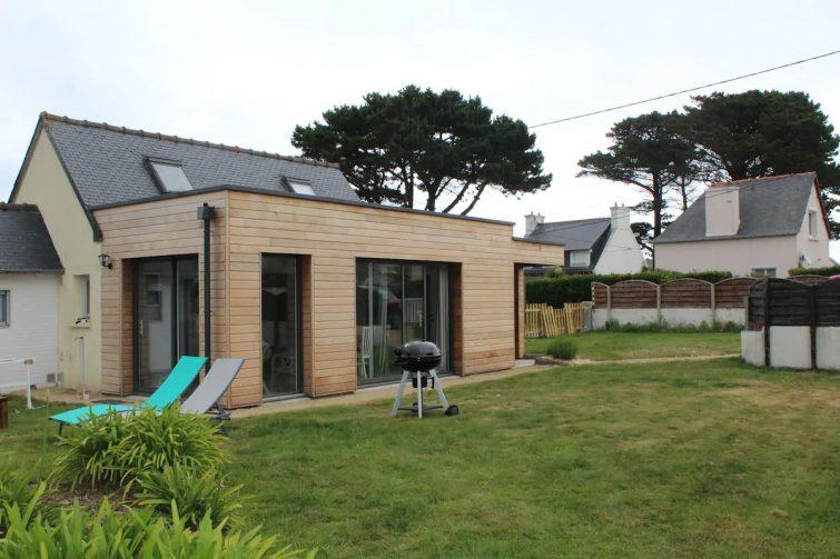 maison individuelle avec jardin cloturé 50m plage