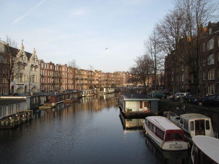 Le quartier d'Oud-West, à Amsterdam