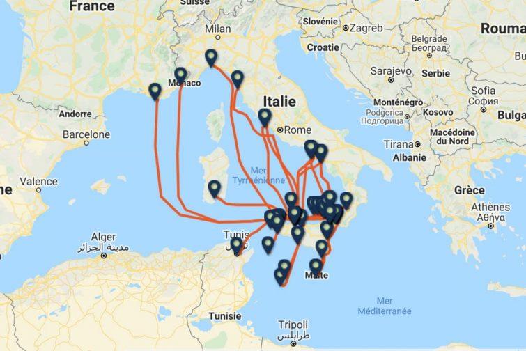 Carte ferry Sicile