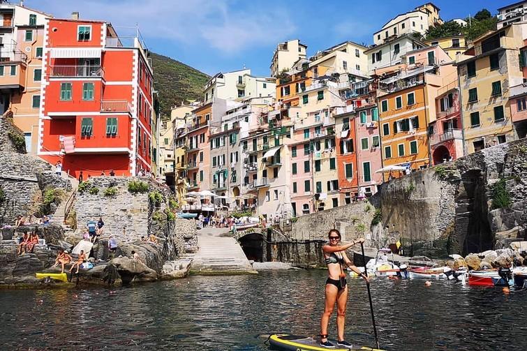 Faire du paddle dans les Cinque Terre