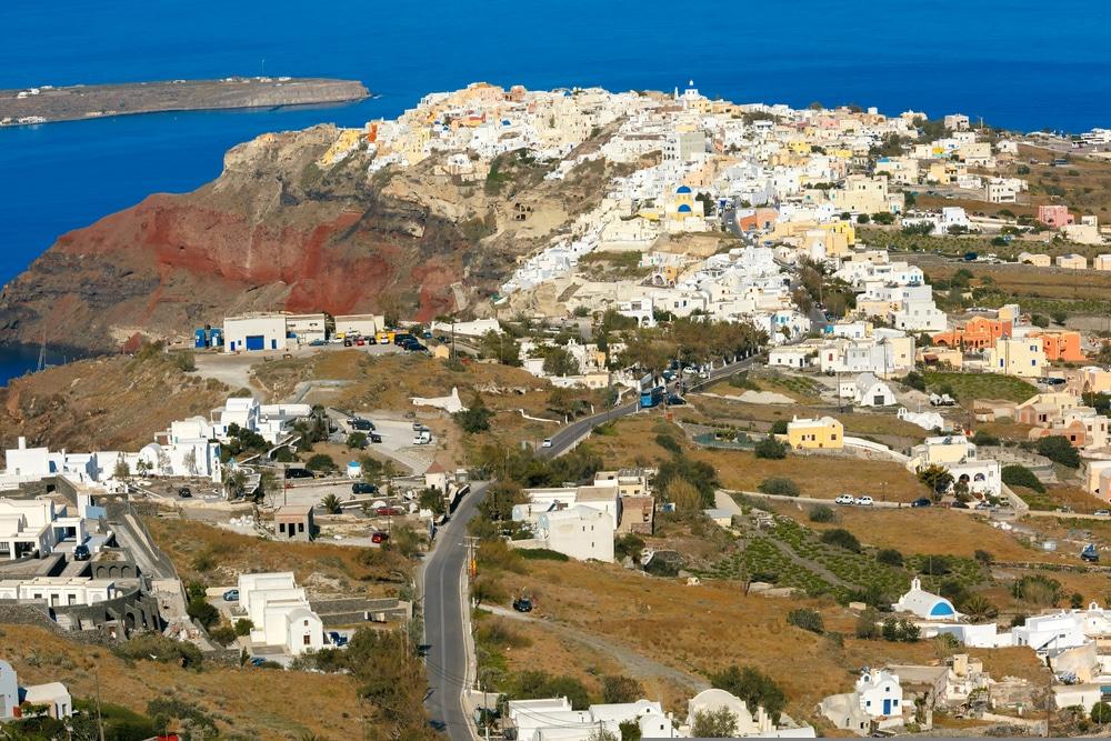 Finikia villages de Santorin