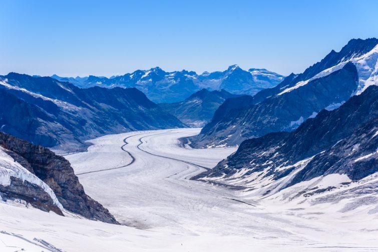 Glacier Aletsch visiter Le Valais