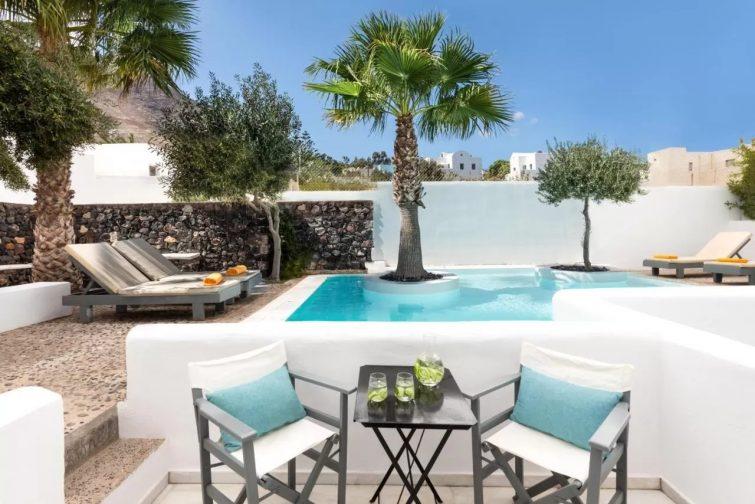 Santorini Kastelli Resort hôtels avec piscine de Santorin