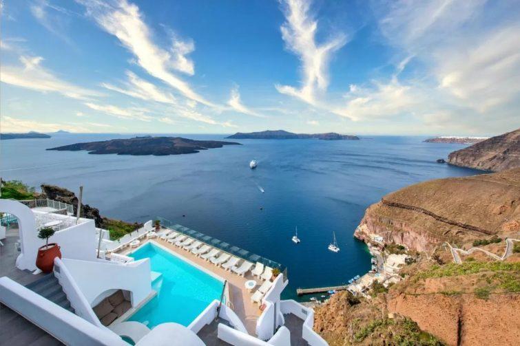 Athina Luxury Suites hôtels avec piscine de Santorin