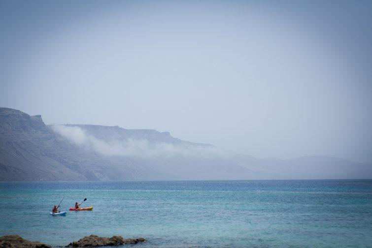 Kayak activité outdoor à Lanzarote
