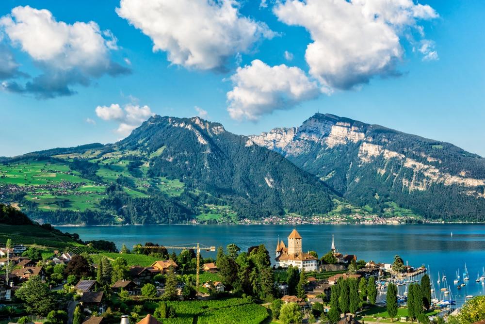 Montreux City, Suisse Vue sur les montagnes et la ville