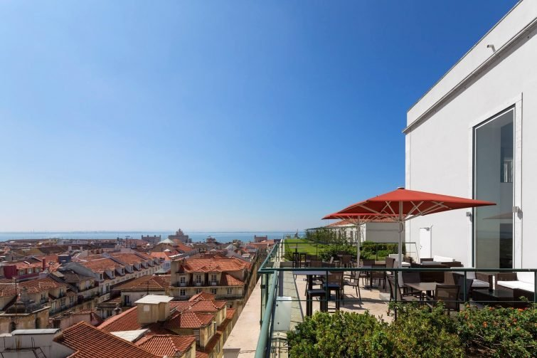 Hotel do Chiado meilleur rooftop Lisbonne