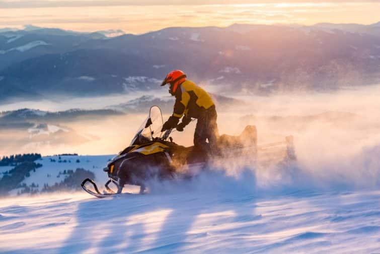 Balade hivernale motorisée