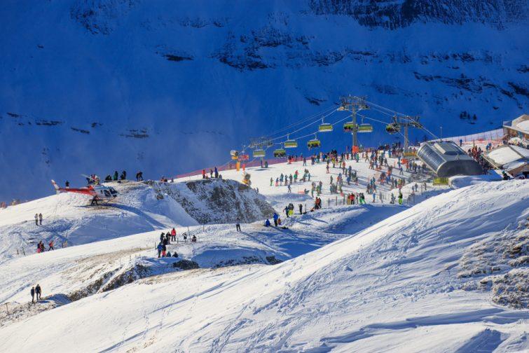 Ski activité outdoor à Wengen
