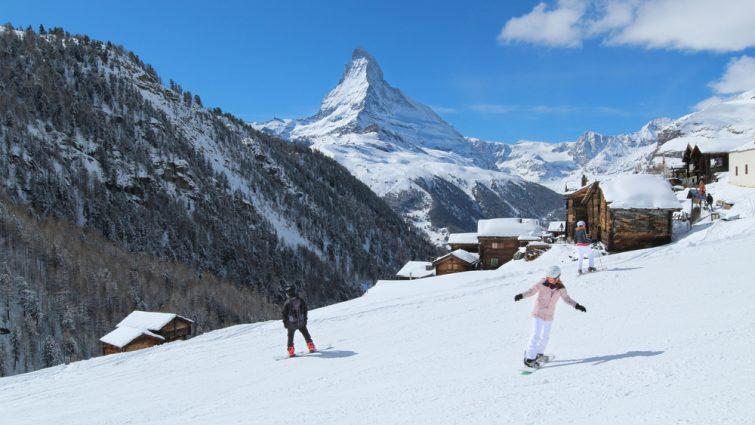 Ski activité outdoor à Zermatt