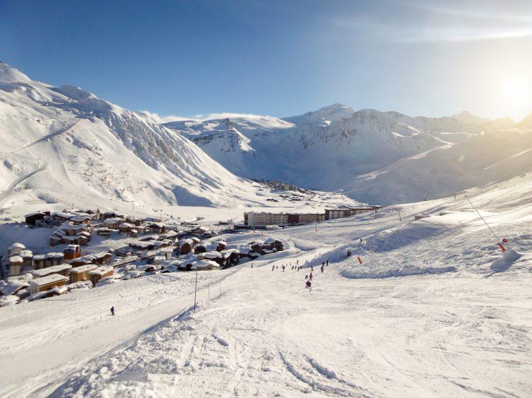Paysage alpin, station de ski Savoie