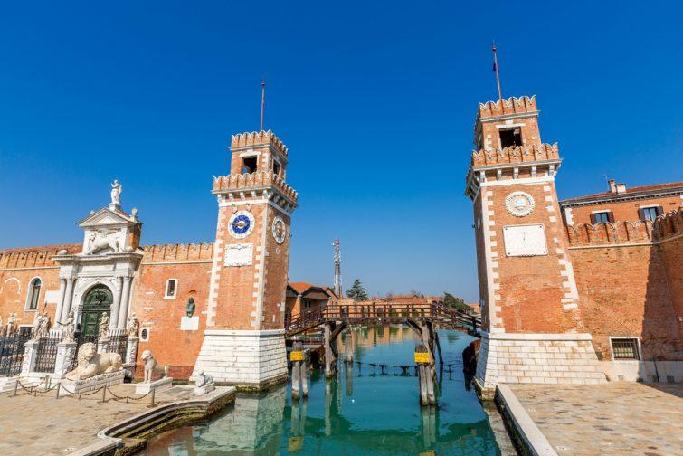 Tours d'entrées de l'arsenal de Venise