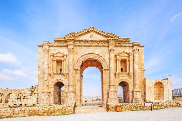 Arche d'Hadrien visiter Jerash